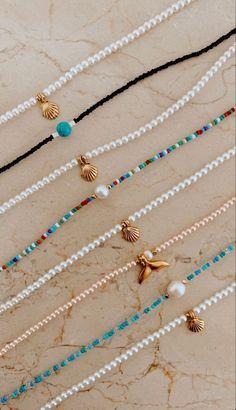 Bead Jewellery, Beaded Jewelry, Beaded Bracelets, Beaded Choker, Diy Bracelets Easy, Bracelet Crafts, Diy Necklace, Necklace Designs, Necklaces