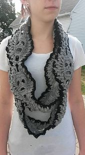 Ravelry: Sandy's Lost Souls Scarf, link to free pattern