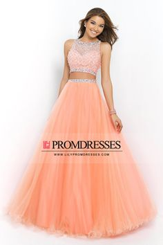 2015 Prom Dresses A Line Bateau Sleeveless Floor Length With Beading/Sequins US$ 189.99 LilyPEYQ64Z4 - lilypromdresses.com