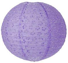 """8"""" Lavender Round Eyelet Paper Lantern"""