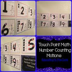 Motions for Touch Point Touch point math motions Math Math, Math Classroom, Kindergarten Math, Fun Math, Teaching Math, Teaching Ideas, Classroom Ideas, Touch Point Math, Touch Math