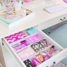 On an organizing binge? Start with your desk. Instant gratification enjoyed daily.