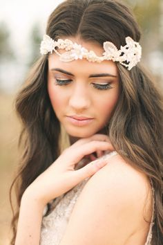 The Vault: Curated & Refined Wedding Inspiration - Style Me Pretty Wedding Hair And Makeup, Bridal Makeup, Hair Makeup, Eye Makeup, Wedding Looks, Chic Wedding, Wedding Vintage, Rose Wedding, Wedding Attire
