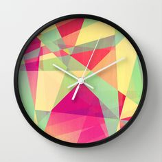 Summer Abstract Wall Clock by VessDSign - $30.00