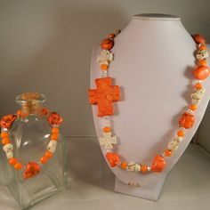 Tantalizing Tangerine Set by ScarletRoot on Etsy, $39.98