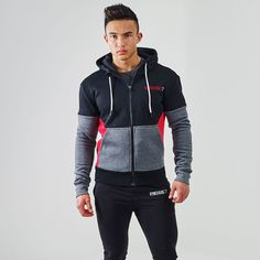 Gymshark Fit Frontier Thermal Hoodie - Red http://www.uksportsoutdoors.com/product/new-mens-compression-base-layer-skin-tight-long-pants-running-thermal-leggings/
