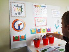 Kids Homework Station, Kindergarten Homework, Kids Homework Room, Homework Ideas, Daycare Ideas, Learning Stations, Kids Learning, Work Stations, Learning Time