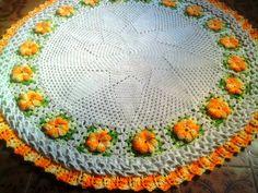 Elizandra Crochê: Tapete flores Barroco