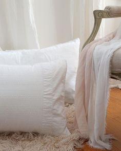 64b5a207853 Crisp White Linen Pillows - Pom Pom at Home