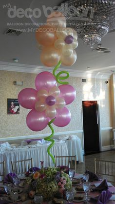 Balloon Decoration - these look easy to make