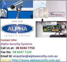 Alpha Security Systems is a security service company in #Adelaide that provides you cutting edge round the clock security for your home and businesses. We are known for effective #securitysysteminstallation in Adelaide.  Contact info: Adelaide SA 5000 Ph.No: 08 8340 7750 Fax No: 08 8447 7149 Email: enquiries@alphasecurity.com.au