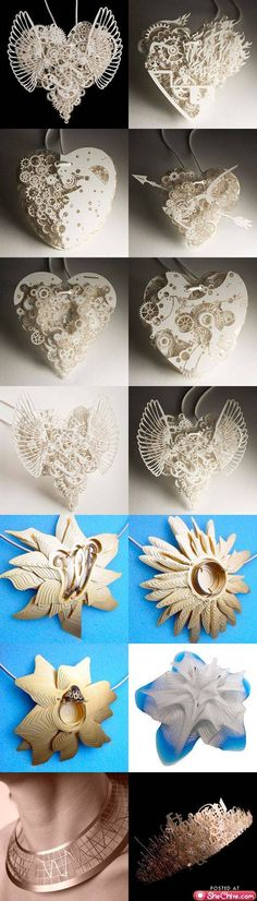 Incredibly intricate paper artworks