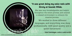 Multi-lingual Kala Fuenmayor has a a bit of insight into recording a #voicereel with me