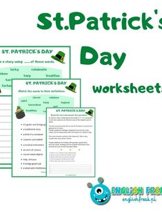 BLOG - englishfreak.pl Bingo, St Patricks Day, Worksheets, Rainbow, Words, Rainbows, Rain Bow, Horse
