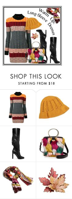"""""""Long Sleeve Dresses"""" by noconfessions ❤ liked on Polyvore featuring Missoni, NOVICA, Yves Saint Laurent, Milly and Vera Bradley"""