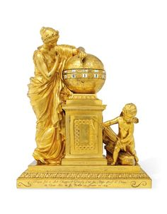 A LOUIS XV ORMOLU STRIKING PENDULE A CERCLES TOURNANTS 'CLIO ACCOMPAGNEE DE GENIE DU TEMPS' LEPAUTE, CIRCA 1770, THE FIGURES AFTER JEAN-ANTOINE HOUDON, THE COMPOSITION BY CHARLES DE WAILLY Price realised GBP 169,875 Large Vintage Wall Clocks, Antique Clocks, Large Clock, Monaco, French Clock, Classic Clocks, Wall Clock Online, Retro Clock, Wooden Clock