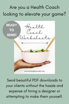 Send beautiful PDF downloads to your clients without the hassle and expense of hiring a designer or attempting to make them yourself. These done-for-you worksheets are ready for a health coach to download and send to clients right away! Or, get in touch for a Canva link to make edits to match your branding... or let me do it for you. Whatever you need, I can help! Blog Writing Tips, Online Entrepreneur, Blogging For Beginners, Sell On Etsy, Health Coach, Healthy Choices, Creative Business, Worksheets, How To Make Money