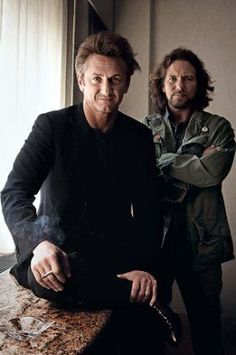 Sean Penn and Eddie Vedder