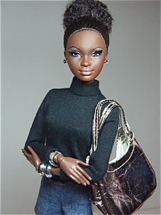 This Barbie is politely listening to a fuckboy brag about how great he is in bed. 16 Barbies That Are Done With Fuckboys Beautiful Barbie Dolls, Pretty Dolls, Diva Dolls, Dolls Dolls, African American Dolls, American Girl, My Black Is Beautiful, Barbie Collection, Barbie World