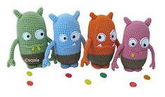 Items similar to Jelly Bean Monster Crochet Pattern Amigurumi Monsters on Etsy Crochet Patterns Amigurumi, Crochet Dolls, Crochet Yarn, Crocheted Toys, Amigurumi Toys, Yarn Monsters, Crochet Monsters, Crochet Crafts, Crochet Projects