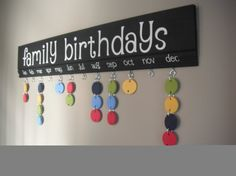 LONG Family Birthdays Board  KIT to make your own. by janesgirldesigns, $40.00
