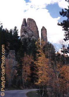 Needles Highway, Custer State Park, South Dakota -- just over an hour from Spearfish, visited October 1986