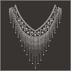 Source hot fix crystal rhinestone motif neckline design on m.alibaba.com