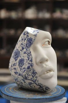 We love this wonderfully unsettling new porcelain sculpture by Hong Kong-based artist Johnson Cheung-shing Tsang (previously featured here).    Entitled Throwing, altering and modelling, the surreal sculpture looks amazingly alive and aware, as though the perfectly white face is part of a whole person just starting to emerge from a piece of delicately painted porcelain and it's only a matter of time until the rest of them appears.   VisitJohnson Cheung-shing Tsang's blogto check out more…