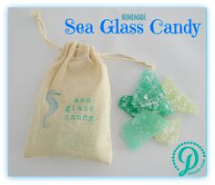 We love collecting real sea glass on our beaches, and we LOVE making fresh sea glass candy, too!  Dolle's sea glass candy is a delicious reminder of hours spent beachcombing, with a tasty twist!  This hard candy is made in small batches, using simple ingredients and wonderful colors that mimic the colors of real sea glass. Packaged in a hand painted cotton bag that can be reused for other beach treasures.<br /> <br /> *sea glass candyis a hard candy and can contain sharp edges. Not…