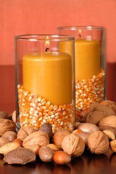 Decoración de otoño: decorar las velas en Decoración, Soluciones de decoración, Complementos