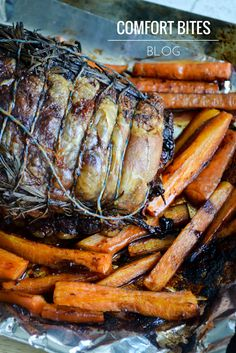 Slow Roasted Lamb Shoulder with Sticky Carrots Paleo AIP