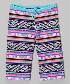 www.makenasurfwear.com Loving this Blue & Purple Pants - Toddler & Girls on #zulily! #zulilyfinds