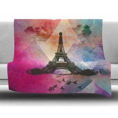 Found it at Wayfair - Eiffel Tower by AlyZen Moonshadow Fleece Blanket