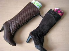 Saggy Boots? Use magazines to hold them up so they'll keep their shape. http://www.hgtv.com/specialty-rooms/repurposing-household-items-for-closet-organization/pictures/page-4.html?soc=pinterest