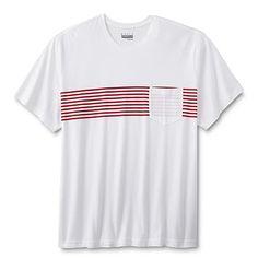 08989b4c77080 Basic Editions Basic Editions Men s Big  amp  Tall Pocket T-Shirt - Striped  Big