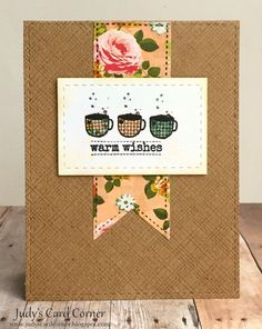 Judy's Card Corner: Spring Coffee Lovers Bloghop - Take 2!
