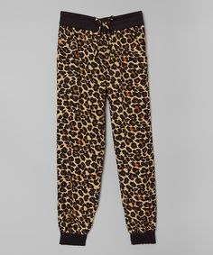 Look at this #zulilyfind! Leopard Jogger Pants - Girls by Real Love #zulilyfinds