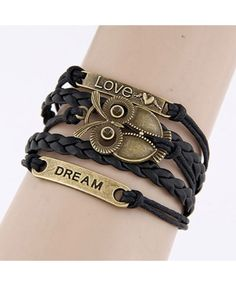 Leather Love Owl Dream' Bracelet £3