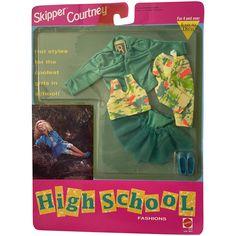 Skipper Courtney High School Fashions NRFP High School Fashion, Vintage Barbie Dolls, Cute, Style, Swag, Kawaii, Outfits