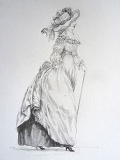 JUST FAB! illustration of chemise a la reine - 3rd version. from gallerie des modes