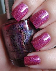 Perfectly wearable magenta nail polish by OPI Designer Series --the perfect girly girl color!
