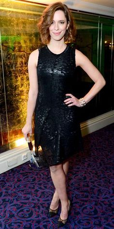 Rebecca Hall struck a pose at the Jameson Empire Awards in London in a sequined LBD and embellished pointy-toe pumps. Soft waves and a natural pink lip finished the look. Natural Pink Lips, Rebecca Hall, Emma Stone Style, Event Dresses, Fashion Models, Women's Fashion, Spring Outfits, Celebrity Style, Fashion Photography