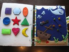 Today's quiet book was made by Jill from Montoya's Meaningful Memories and Musings , and it's an awesome one! She has some really cute and o...