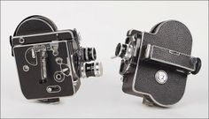 Two Paillard Bolex H16 Reflex 16MM Cameras : Lot 130-8154 #paillardbolex #antique #camera