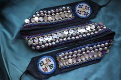 Stunning decorated kuchi belt with beading, metal buttons and coins £30