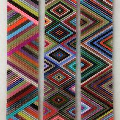 Seed Beads, Loom, Beaded Bracelets, Kids Rugs, Beading, Beadwork, Handmade, Jewelry, Brick