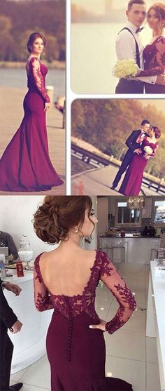 prom dresses,New Arrival long burgundy red maroon lace prom dresses, formal dresses,long prom dresses