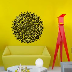 Mandala Yoga Wall Decal Vinyl Sticker Wall Decor por CozyDecal