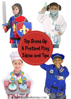 dress up play and pretend play
