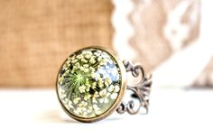 Ring real flower resin Ring with real dried flower by RafFinesse